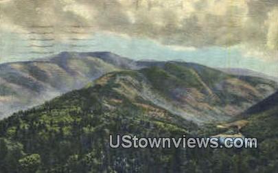 Mt. Lafayette & Echo Lake - Franconia Notch, New Hampshire NH Postcard