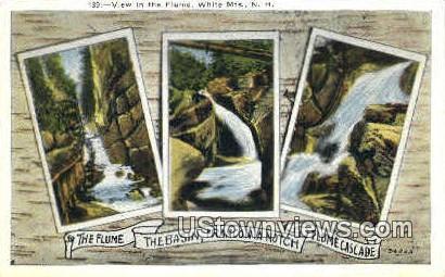 Flume Cascade - Franconia Notch, New Hampshire NH Postcard