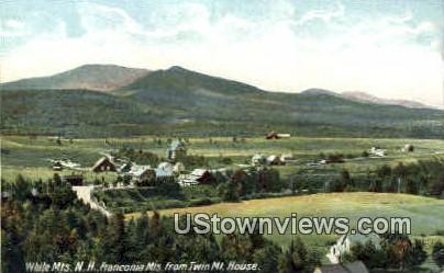 Franconia Mts. - Franconia Notch, New Hampshire NH Postcard