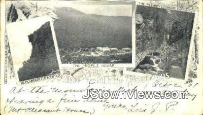 The Old Man of Mountains - Franconia Notch, New Hampshire NH Postcard