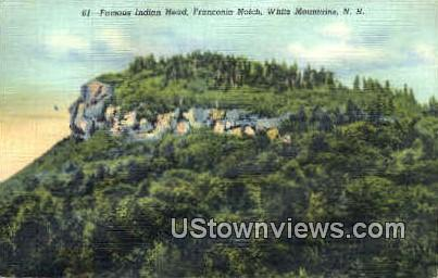 Famous Indian Head - Franconia Notch, New Hampshire NH Postcard