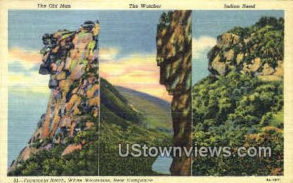 The Watcher, Indian Head - Franconia Notch, New Hampshire NH Postcard