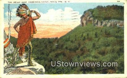 The Indian Head - Franconia Notch, New Hampshire NH Postcard