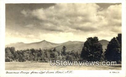 Real Photo - Franconia Range - Franconia Notch, New Hampshire NH Postcard