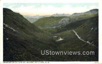 Crawford Notch - Franconia Notch, New Hampshire NH Postcard