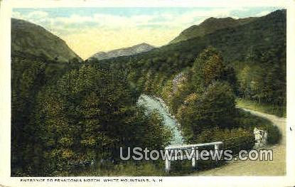 Entrance - Franconia Notch, New Hampshire NH Postcard