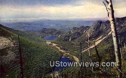 Profile Lake & Echo Lake - Franconia Notch, New Hampshire NH Postcard