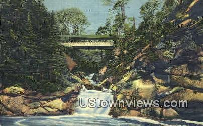 The Pool & Sentinel Pine Bridge - Franconia Notch, New Hampshire NH Postcard