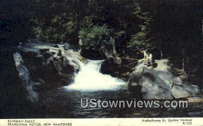 Kinsman Falls - Franconia Notch, New Hampshire NH Postcard