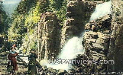 Cascade - Franconia Notch, New Hampshire NH Postcard