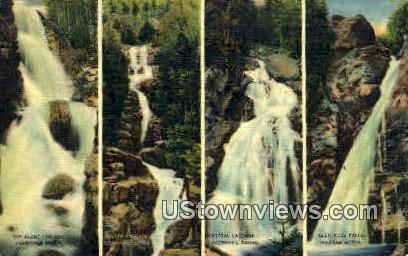 Glen Ellis Falls - Franconia Notch, New Hampshire NH Postcard
