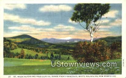 Mt. Washington - Franconia Notch, New Hampshire NH Postcard