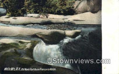 Old Man's Foot Basin - Franconia Notch, New Hampshire NH Postcard