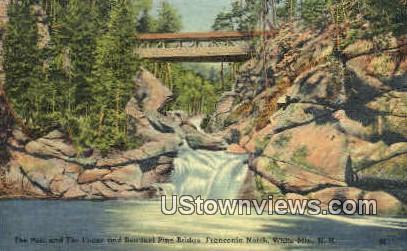The Pool & Flume - Franconia Notch, New Hampshire NH Postcard