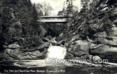 Sentinel Pine Bridge - Franconia Notch, New Hampshire NH Postcard