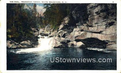 Pool - Franconia Notch, New Hampshire NH Postcard