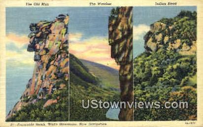 The Old Man - Franconia Notch, New Hampshire NH Postcard