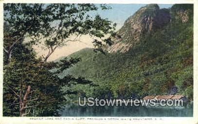 Profile Lake & Eagle Cliff - Franconia Notch, New Hampshire NH Postcard
