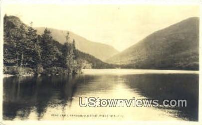 Real Photo Echo Lake - Franconia Notch, New Hampshire NH Postcard