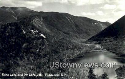 Echo Lake & Mt. Lafayette - Franconia Notch, New Hampshire NH Postcard