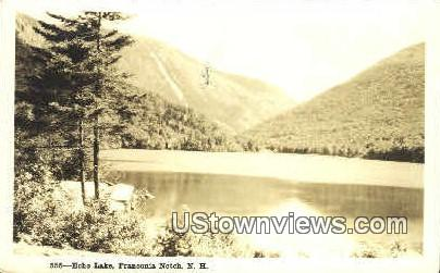 Real Photo - Echo Lake - Franconia Notch, New Hampshire NH Postcard