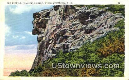 The Profile - Franconia Notch, New Hampshire NH Postcard