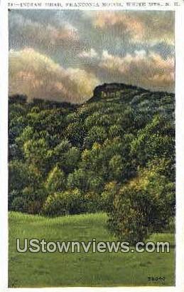 Indian Head - Franconia Notch, New Hampshire NH Postcard