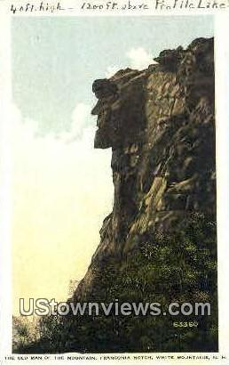The Old Man of the Mountain - Franconia Notch, New Hampshire NH Postcard