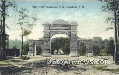 The Odell Memorial Arch - Franklin, New Hampshire NH Postcard