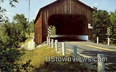 County Covered Bridge - Greenfield, New Hampshire NH Postcard