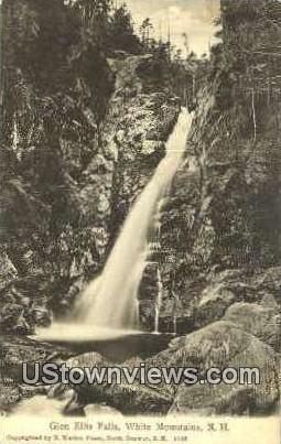 Glen Ellis Falls - White Mountains, New Hampshire NH Postcard