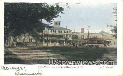 Hotel Whittier & Annex - Hampton, New Hampshire NH Postcard