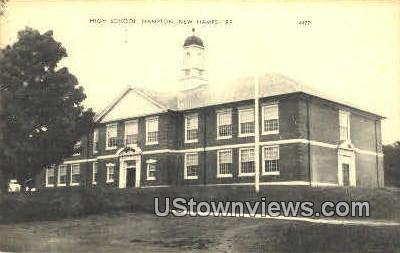 High School - Hampton, New Hampshire NH Postcard