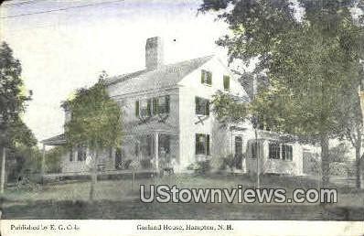 Garland House - Hampton, New Hampshire NH Postcard
