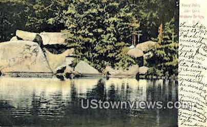 Rocky Point, Loon Lake - Hillsboro Bridge, New Hampshire NH Postcard