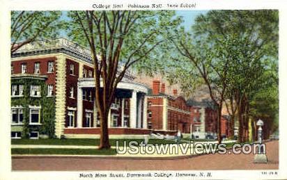 Main St., Dartmouth College - Hanover, New Hampshire NH Postcard