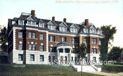 Richardson Hall, Dartmouth Collge - Hanover, New Hampshire NH Postcard
