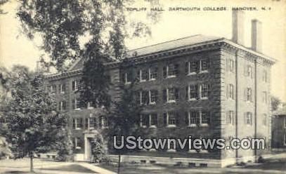 Topliff Hall, Dartmouth College - Hanover, New Hampshire NH Postcard