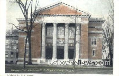 Webster Hall, Dartmouth College - Hanover, New Hampshire NH Postcard