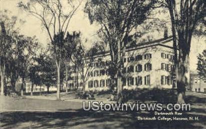 Dartmouth Row, Dartmouth College - Hanover, New Hampshire NH Postcard