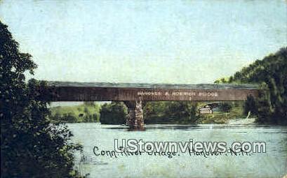Connecticut River Bridge - Hanover, New Hampshire NH Postcard