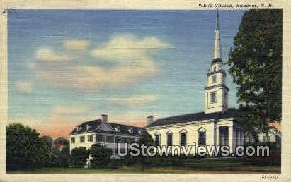 White Church - Hanover, New Hampshire NH Postcard
