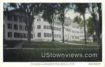 College Row, Dartmouth College - Hanover, New Hampshire NH Postcard