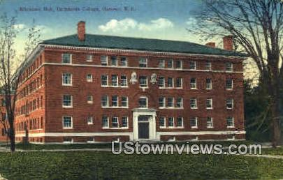 Hitchcock Hall, Dartmouth College - Hanover, New Hampshire NH Postcard