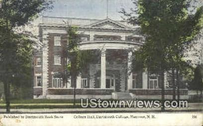 College Hall, Dartmouth College - Hanover, New Hampshire NH Postcard