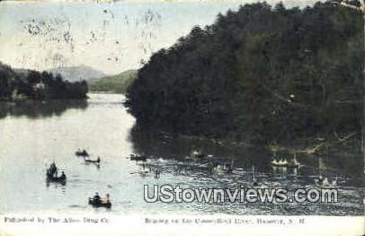 Boating, Connecticut River - Hanover, New Hampshire NH Postcard