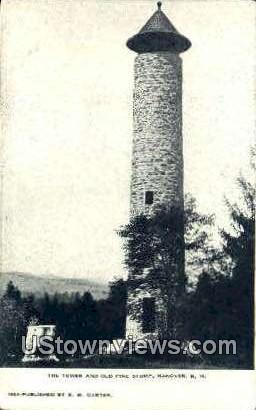 The Tower & Old Pine Stump - Hanover, New Hampshire NH Postcard