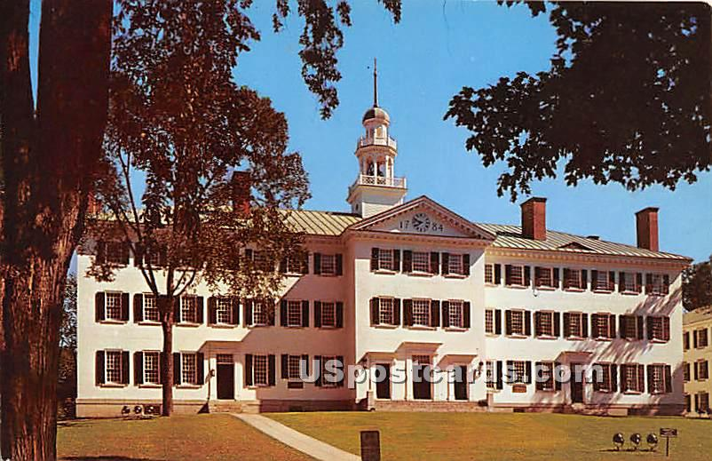 Dartmouth Hall at Dartmouth College - Hanover, New Hampshire NH Postcard