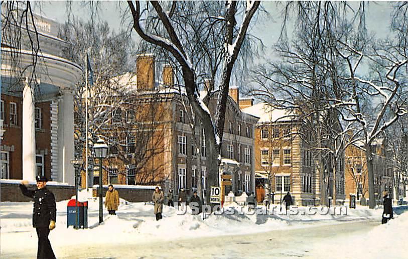 North Main Street at Dartmouth College Campus - Hanover, New Hampshire NH Postcard