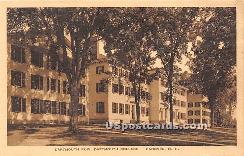 Dartmouth Row at Dartmouth College - Hanover, New Hampshire NH Postcard